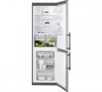 Electrolux EN3613MOX ledusskapis ar saldētavu apakā, 185cm, nerūs.tēr