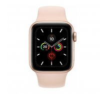 Apple Watch Series 5 GPS, 44mm Gold Aluminium Case with Pink Sand Sport Band - S/M & M/L LT