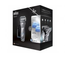 Braun Electric Shaver+ Shaver Silver  7899cc+CCR2 Wet use, Rechargeable, Charging time 1  h, Li-Ion, Network / battery, Number of shaver heads/blades 4, Silver/ black 7899CC+CCR2