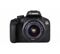Canon EOS 4000D - Digitalkamera - SLR - 18.0 MPix - APS-C - 1080p / 30 BpS - 3x optischer Zoom EF-S 18-55-mm-DC-III-Objektiv - Wi-Fi - Schwarz