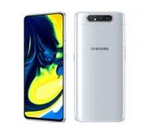 "Samsung Galaxy A80 White, 6.7 "", Super AMOLED, 1080 x 2400 pixels, Qualcomm SDM730 Snapdragon 730, Internal RAM 8 GB, 128 GB, microSD, Dual SIM, Nano-SIM, 3G, 4G, Main camera 48+8 MP, Android, 9.0, 3700 mAh A80 128GB WHITE"