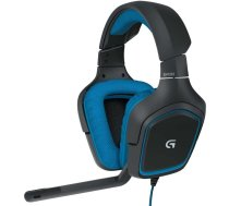 Logitech G430 Binaural Head-band Black, Blue