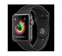 Apple Watch Series 3 GPS, 38mm Space Grey Aluminium Case with Black Sport Band, Model A1858 MTF02EL/A