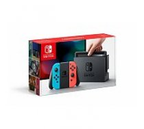 Nintendo Switch with Neon Red and Blue Joy-Con spēļu konsole