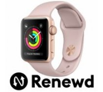 Apple RENEWD Watch Series 3 42mm Gold Case / Pink Band Renewd viedā aproce