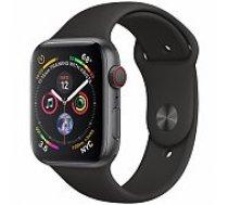 Apple Watch Series 4 44mm Space Grey case / Black Band viedā aproce