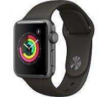 Apple Watch Series 3 42mm Space Grey Case / Black Band viedā aproce