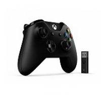 Microsoft Xbox One S Wireless Controller Black and Wireless Adapter 4N7-00002 spēļu kontrolieris