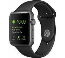 Apple Watch Series 3 38mm Grey Case / Black Band viedā aproce