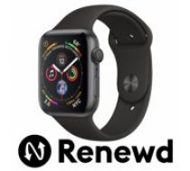 Apple RENEWD Watch Series 4 40mm Space Grey Case / Black Band Renewd viedā aproce