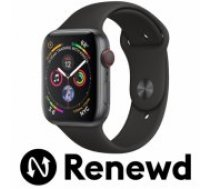 Apple RENEWD Watch Series 4 44mm Space Grey case / Black Band Renewd viedā aproce