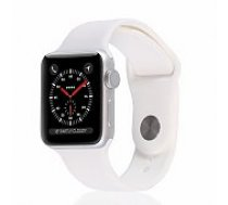 Apple Watch Series 3 38mm Silver Case / White Band viedā aproce