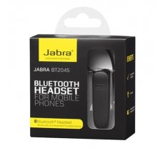 Jabra BT2045 10 g, Black, 1 Jabra BT2045 with internal rechargeable battery, 1 Quick Start Manual, 1 earhook, USB Cable, Talk time up to 8 hoursStandby time up to 10 days, Bluetooth  (100-92045000-60)