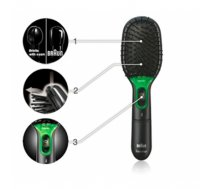 Paddle brush Braun BR710 Warranty 24 month(s), Ion conditioning, Black/Green (BR710)