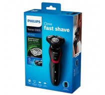Philips dry electric shaver Warranty 24 month(s), Rechargeable, Lithium-Ion (Li-Ion), Battery life 40 min / 13 shaves h, Number of shaver heads/blades 3, Black, Red (S5130/06)