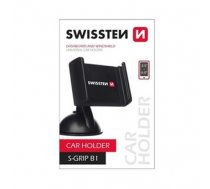 Swissten S-GRIP B1 Premium Universal Window Holder with 360 Rotation For Devices 3.5'- 6.0' inches Black (SW-CH-B1-B)