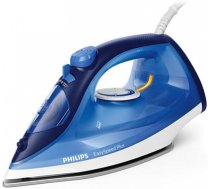 Philips Iron EasySpeed Plus  Blue, 2100 W, Steam iron, Continuous steam 30 g/min, Steam boost performance 110 g/min, Anti-drip function, Anti-scale system, Vertical steam function, Water t (GC2145/20)