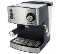 Mesko Espresso Machine MS 4403 Pump pressure 15 bar, Built-in milk frother, Semi-automatic, 850 W, Stainless steel/Black (MS 4403)