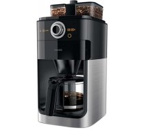 Philips Grind & Brew Coffee maker HD7769/00 With glass jug Integrated coffee grinder Black & metal With timer (HD7769/00)