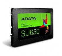 "ADATA Ultimate SU650 3D NAND SSD 960 GB, SSD form factor 2.5"", SSD interface SATA, Write speed 450 MB/s, Read speed 520 MB/s (ASU650SS-960GT-R)"