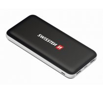 Swissten Black Core Premium Portable Power Bank 2A / USB / USB-C / 10000 mAh Black (SW-BCPWB-10000)