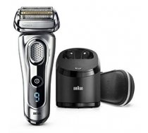 Braun Men's Electric Foil Shaver 9291cc Wet use, Rechargeable, Charging time 1 h, Li-Ion, Battery, Silver (9291cc)