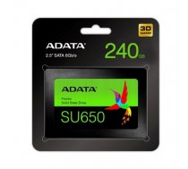 "ADATA Ultimate SU650 ASU650SS-240GT-R 240 GB, SSD form factor 2.5"", SSD interface SATA, Write speed 450 MB/s, Read speed 520 MB/s (ASU650SS-240GT-R)"