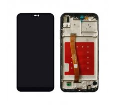 Screen LCD Huawei P20 Lite (black) (service pack: with frame and battery) ORG (TE321230)