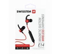 Swissten Active Wireless Bluetooth 4.2 Earphones / A2DP / AVRCP / HSP / HFP / Red (SW-AC-SPHS-RD)