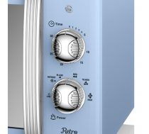 Cooker microwave Swan RETRO SM22130BLN (800W; 20l; blue color) (0773F2E5643096FCB3C2725EDF5C9743C5B5702E)