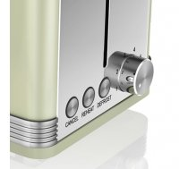 Toaster Swan RETRO ST19010GN (810 W; green color) (98D5F56EDCC9289DF36D6F7B7F4EE656BE2A51C7)