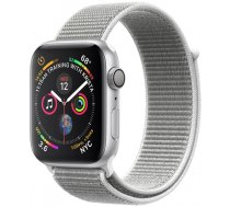 Apple Watch Series 4 GPS, 40mm Silver Aluminium Case with Seashell Sport Loop (MU652EL/A)