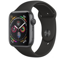 Apple Watch Series 4 GPS, 40mm Space Grey Aluminium Case with Black Sport Band (MU662EL/A)