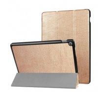 TakeMe Eko-ādas Sāniski atverams maks ar stendu Planšetdatoram Lenovo Tab 7 Essential Zeltains (TakeMe#B35504C159AFF6C5033B258AC75968E8E15A5A60)