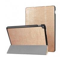 TakeMe Eko-ādas Sāniski atverams maks ar stendu Planšetdatoram Lenovo Tab 4 8 Plus Zeltains (TakeMe#E29B91AB5111991138781B9810D9A2D40750D307)
