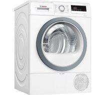 Bosch Dryer mashine WTR85VS8SN Condensed, Sensitive dry, 8 kg, Energy efficiency class A++, Self-cleaning, White, LED, Depth 60 cm, (WTR85VS8SN)