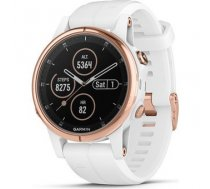 Garmin fenix 5S Plus Sapphire Rose Gold with white band