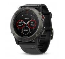 Garmin fēnix 5X GPS fitnesa viedpulkstenis, pelēks/melns (Slate Gray Sapphire/Black Band), 010-01733-01