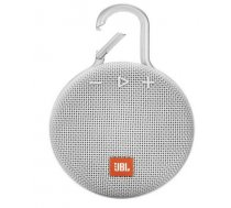 JBL Clip 3 ūdensizturīgs portatīvais skaļrunis, Bluetooth, balts (Steel White)