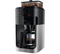 Philips Grind and Brew HD7767/00 kafijas automāts ar iebūvētām dzirnaviņām, nerūsējošais tērauds/melns
