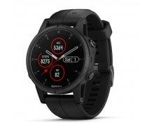 Garmin fēnix 5S Plus GPS fitnesa viedpulkstenis, melns/melns (Sapphire, Black with Black Band), 010-01987-03