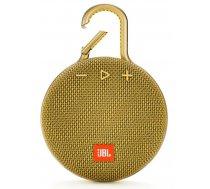 JBL Clip 3 ūdensizturīgs portatīvais skaļrunis, Bluetooth, dzeltens (Mustard Yellow)