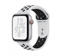 Apple Watch Nike+ Series 4 GPS viedpulkstenis, 44mm, sudraba/melns (Silver Aluminum/Pure Platinum Black Nike Sport Band), MU6K2UA/A