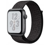 Apple Watch Nike+ Series 4 GPS viedpulkstenis, 40mm, astropelēks/melns (Space Gray Aluminum/Black Nike Sport Loop), MU7G2