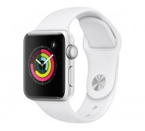 Apple Watch Series 3 GPS, 38mm, Silver Aluminium Case / White Sport Band viedpulkstenis, MTEY2