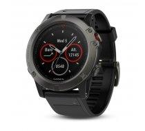 Garmin fēnix 5X GPS fitnesa viedpulkstenis, pelēks/melns (Slate Gray Sapphire/Black Band)