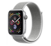 Apple Watch Series 4 GPS viedpulkstenis, 40mm, sudraba (Silver Aluminum/Seashell Sport Loop), MU652