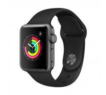 Apple Watch Series 3 viedpulkstenis, 38mm, astropelēkā/melnā krāsā, Sport Band aproce, MTF02ZP/A