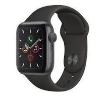 Apple Watch Series 5 viedpulkstenis, 40mm, astropelēks/melns (Space Grey/Black Band), MWV82EL/A