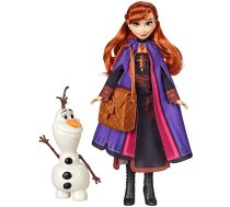 Hasbro Disney Frozen Anna Doll With Buildable Olaf Figure & Backpack